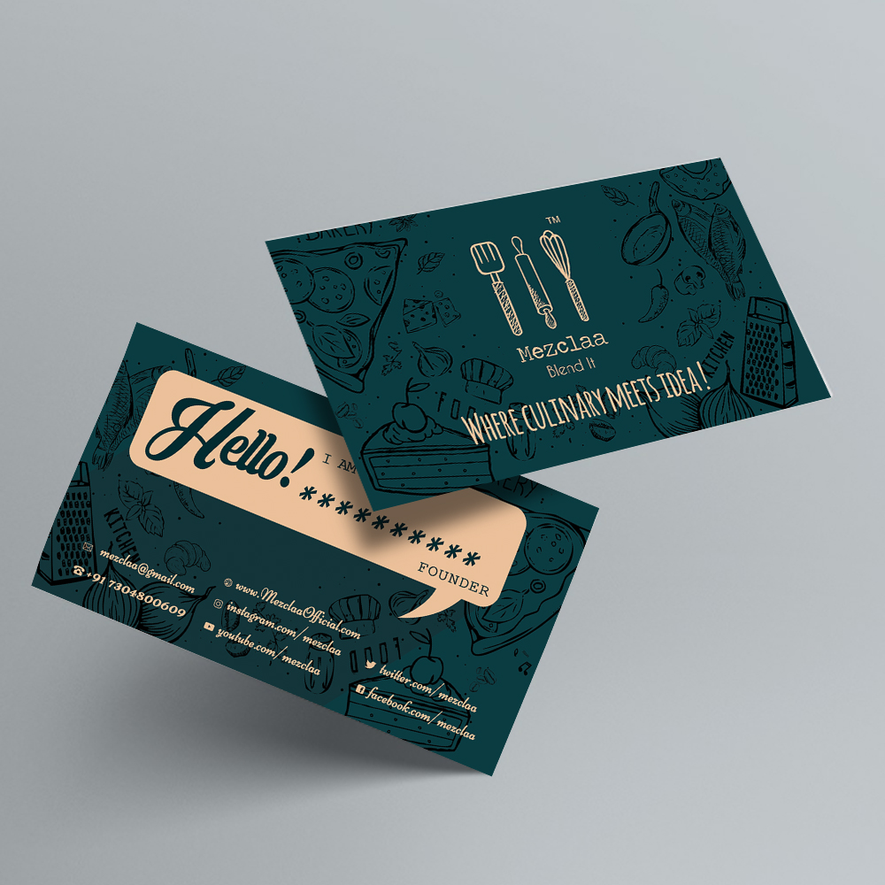 visiting card ( mezclaa)